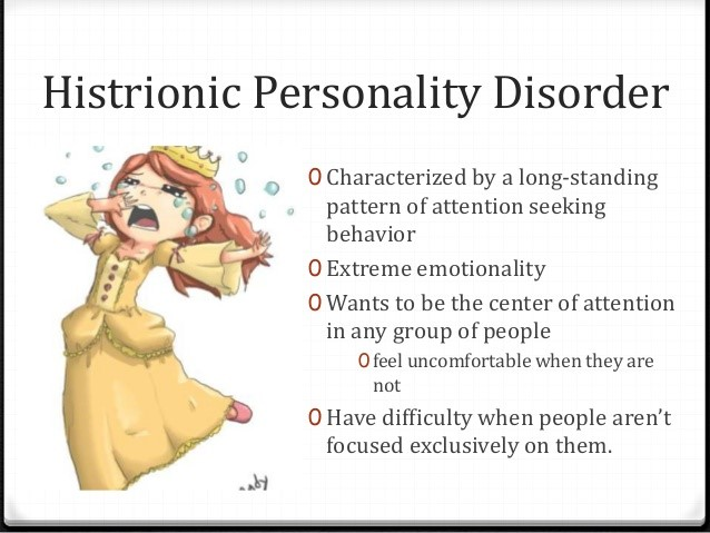 Chart image of histrionic personality disorder